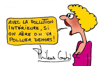 air pollué en entreprise humour